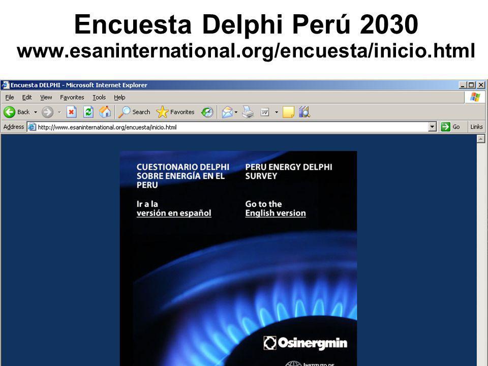Encuesta Delphi Perú 2030 www.esaninternational.org/encuesta/inicio.html