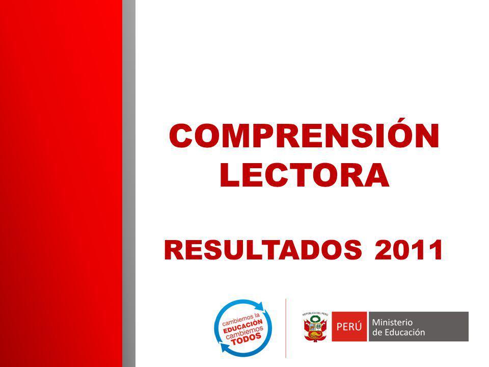 COMPRENSIÓN LECTORA RESULTADOS 2011