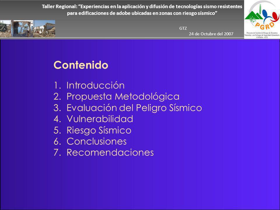 Contenido 1.Introducción 2. Propuesta Metodológica 3.