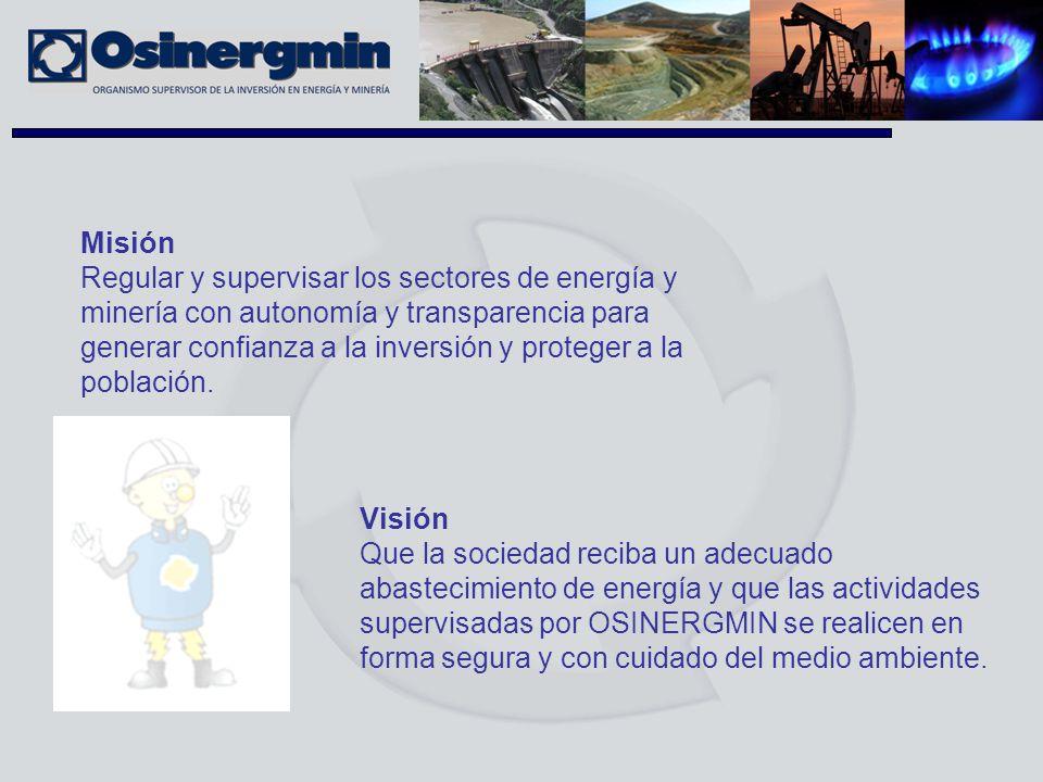Misión Regular y supervisar los sectores de energía y minería con autonomía y transparencia para generar confianza a la inversión y proteger a la pobl