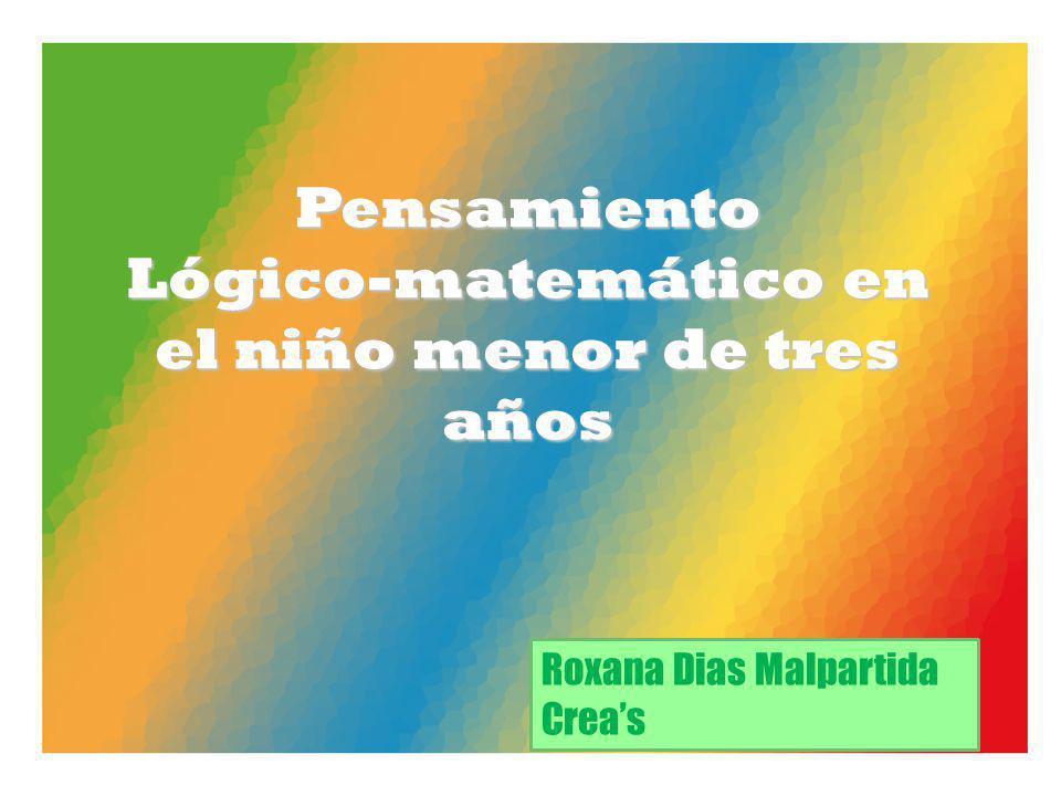 Pensamiento Lógico-matemático en el niño menor de tres años Roxana Dias Malpartida Creas