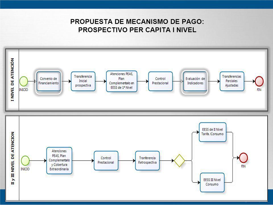PROPUESTA DE MECANISMO DE PAGO: PROSPECTIVO PER CAPITA I NIVEL
