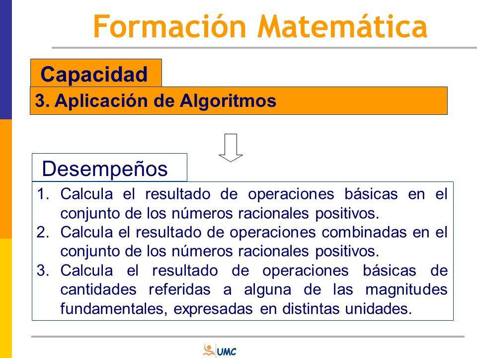 Contenidos Número y Cantidad: se refiere a los diferentes conjuntos numéricos en todas sus representaciones (enteros, fracciones, decimales); sus propiedades (tales como la divisibilidad); las operaciones aritméticas, la proporcionalidad y sus aplicaciones (regla de tres, porcentaje).