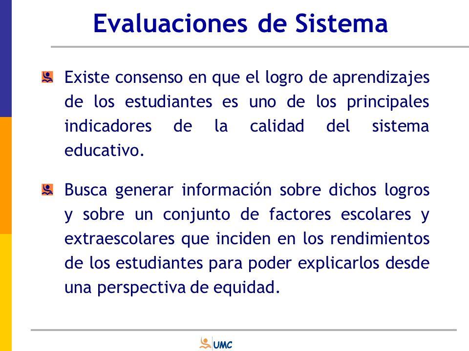 Evaluaciones de Sistema Cobran una gran importancia en latinoamericana y se desarrollan junto con el diseño e implementación de las reformas educativas de los años 80 y 90.