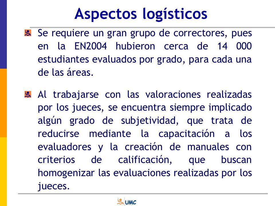Aspectos logísticos Los especialistas de la UMC se encargaron de efectuar el diseño de capacitación y de elaborar el respectivo manual de codificación.