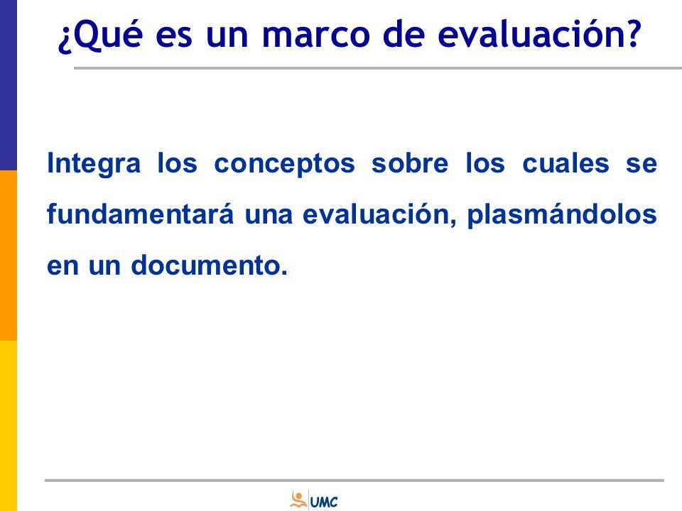 Disciplinares Contextuales Metodológicos El marco de evaluación ASPECTOS