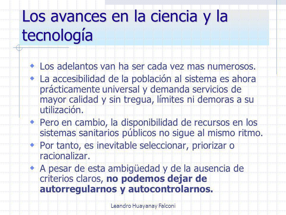 Leandro Huayanay Falconi Los avances en la ciencia y la tecnología Los adelantos van ha ser cada vez mas numerosos.