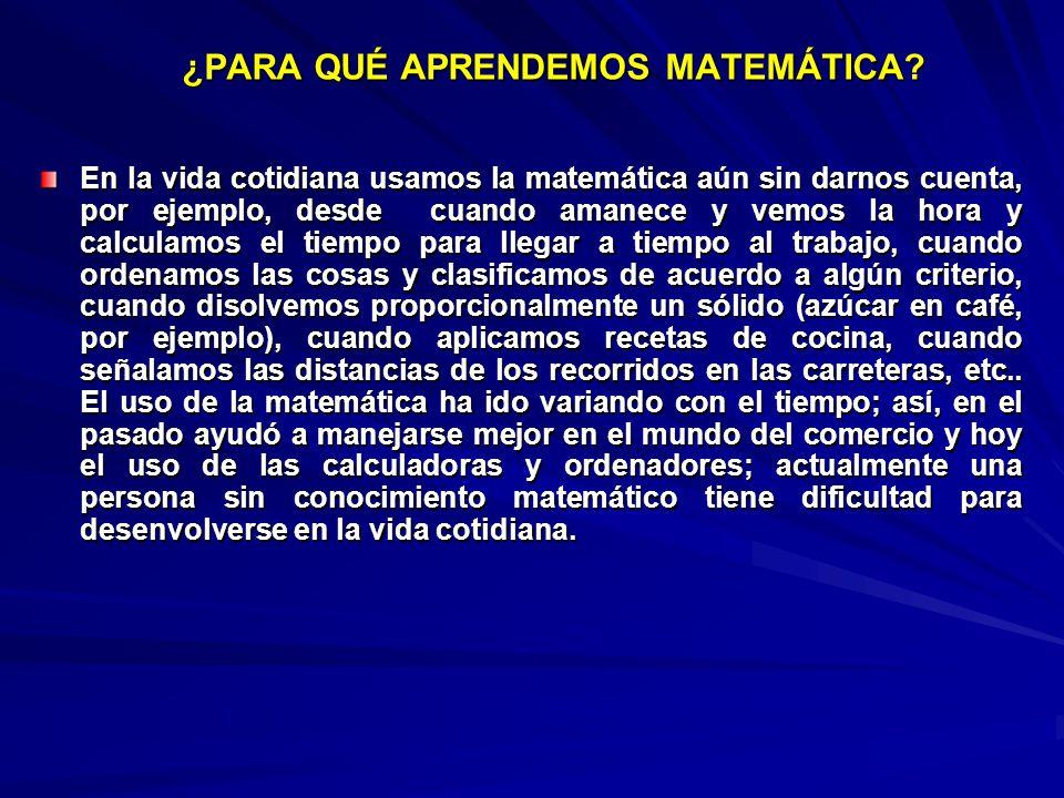 En la vida cotidiana usamos la matemática aún sin darnos cuenta, por ejemplo, desde cuando amanece y vemos la hora y calculamos el tiempo para llegar