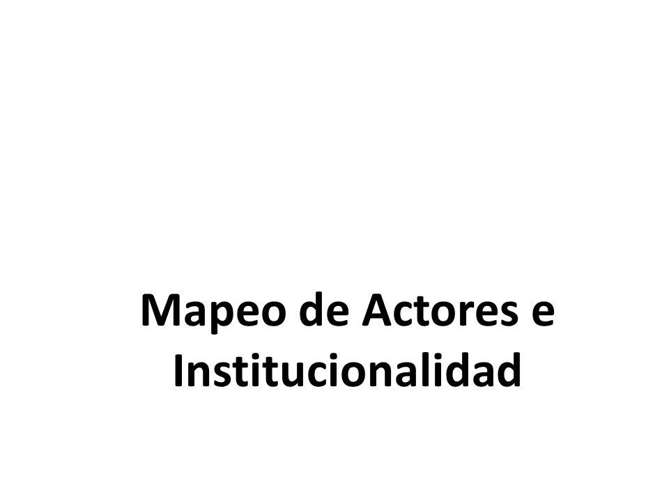 Mapeo de Actores e Institucionalidad