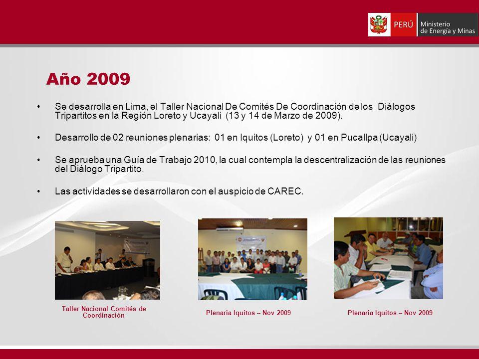 Se desarrolla en Lima, el Taller Nacional De Comités De Coordinación de los Diálogos Tripartitos en la Región Loreto y Ucayali (13 y 14 de Marzo de 2009).