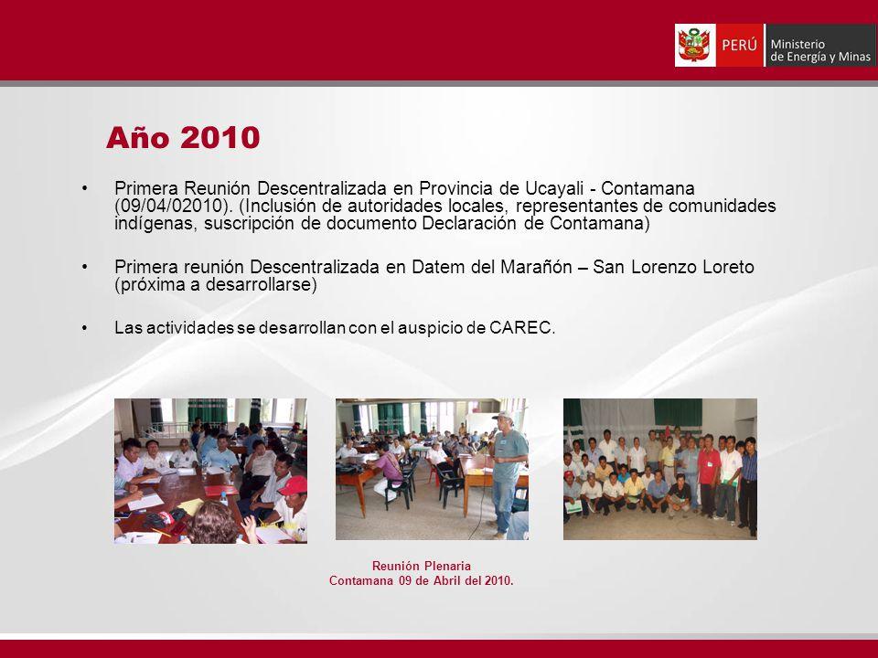 Primera Reunión Descentralizada en Provincia de Ucayali - Contamana (09/04/02010).
