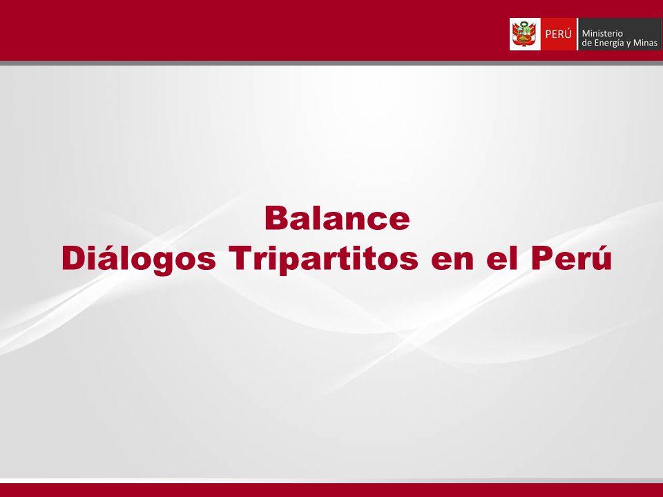 Balance Diálogos Tripartitos en el Perú