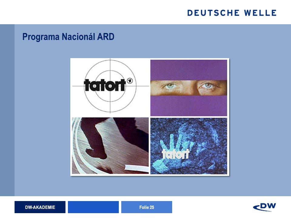 DW-AKADEMIEFolie 25 Programa Nacionál ARD