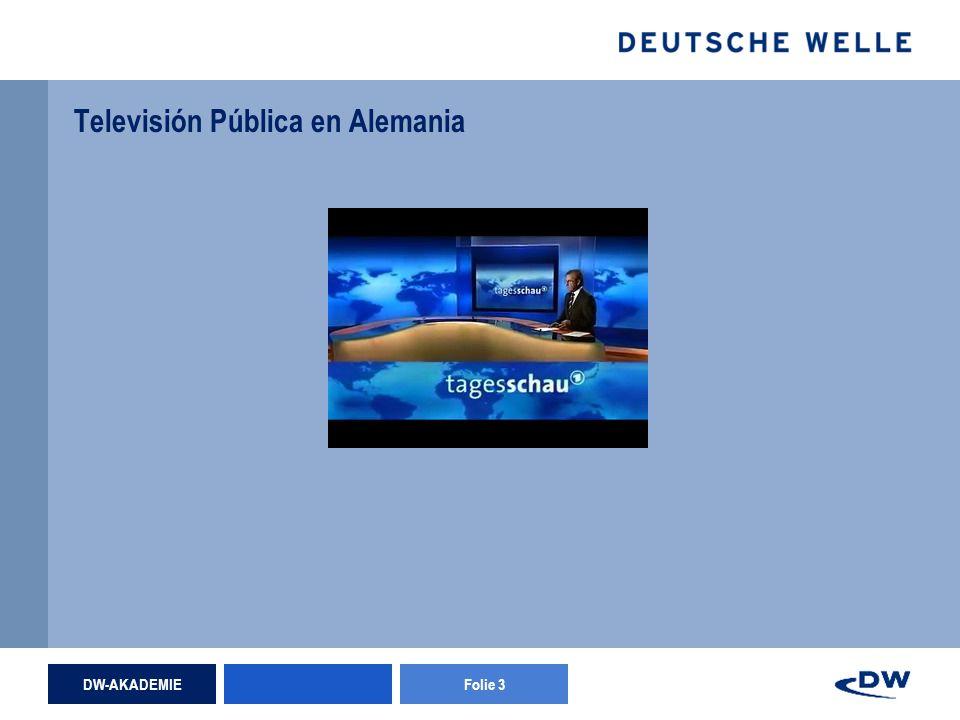 DW-AKADEMIEFolie 3 Televisión Pública en Alemania
