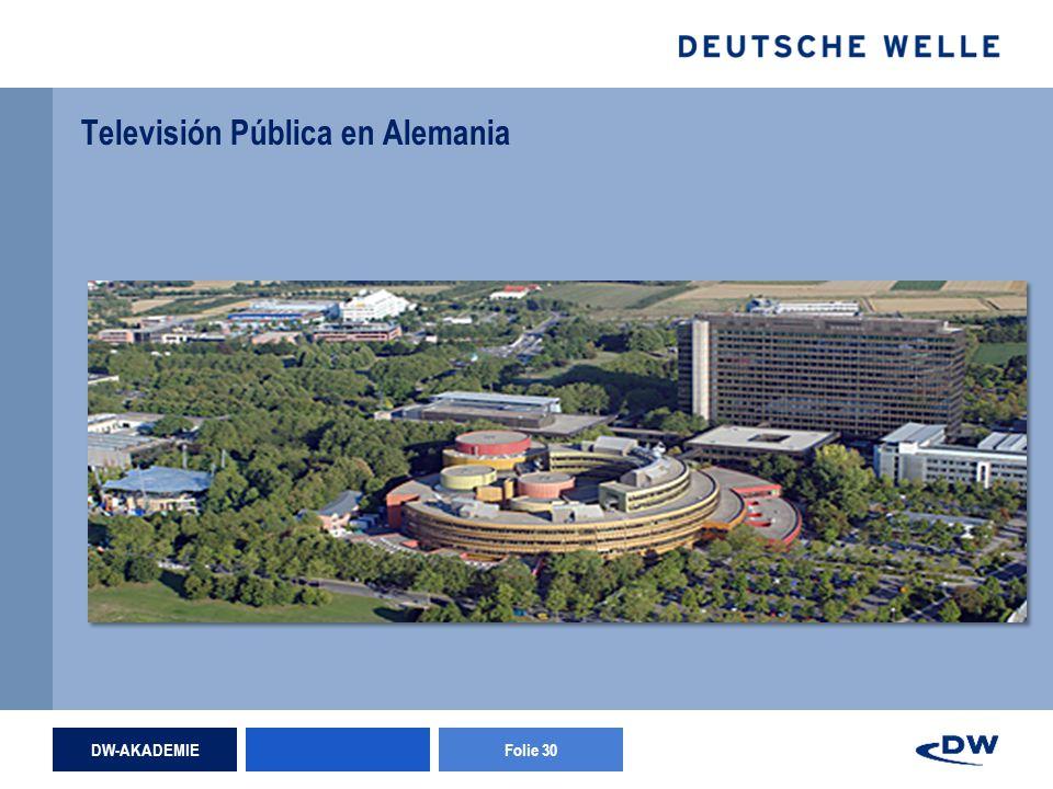 DW-AKADEMIEFolie 30 Televisión Pública en Alemania