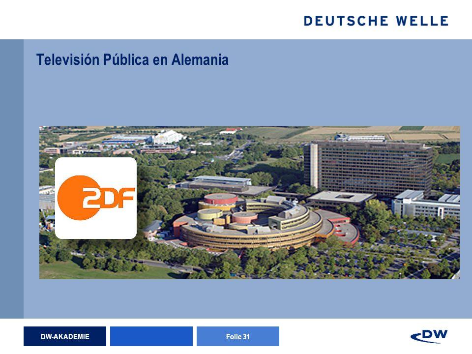 DW-AKADEMIEFolie 31 Televisión Pública en Alemania