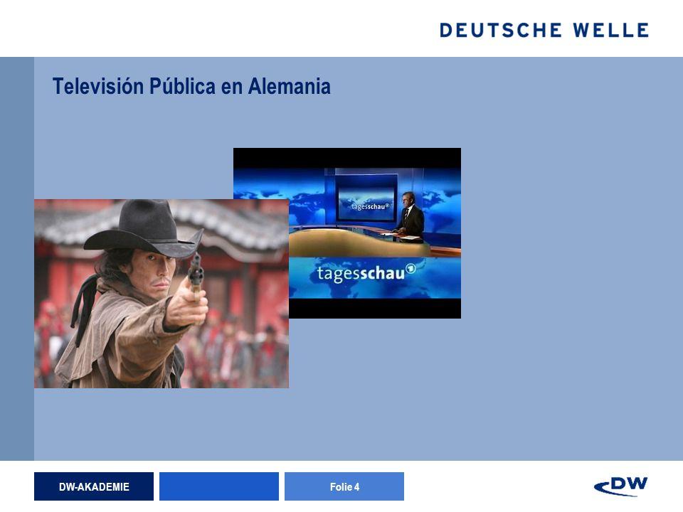 DW-AKADEMIEFolie 4 Televisión Pública en Alemania