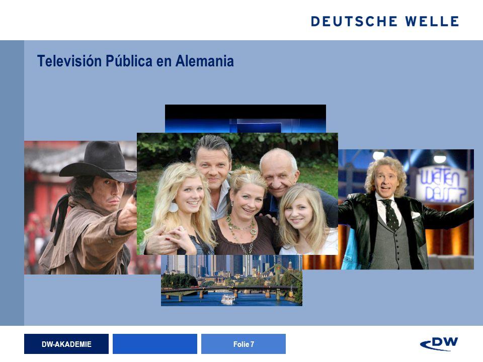DW-AKADEMIEFolie 7 Televisión Pública en Alemania