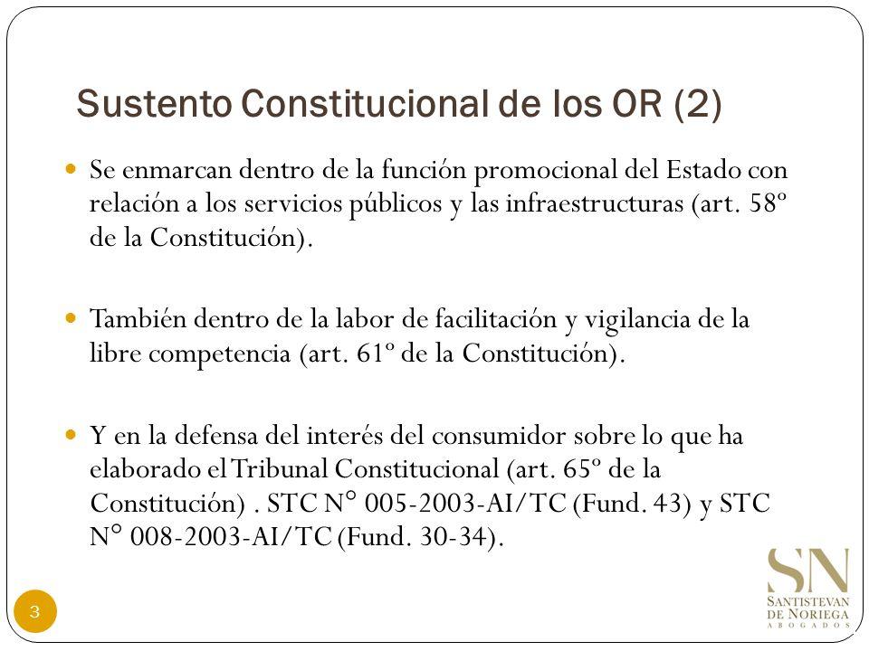 Marco Normativo de los OR (1) Se rigen por la Ley Marco de los Organismos Reguladores de la Inversión Privada en los Servicios Públicos (Ley Nº 27332) y su Reglamento (Decreto Supremo N° 042-2005-PCM).