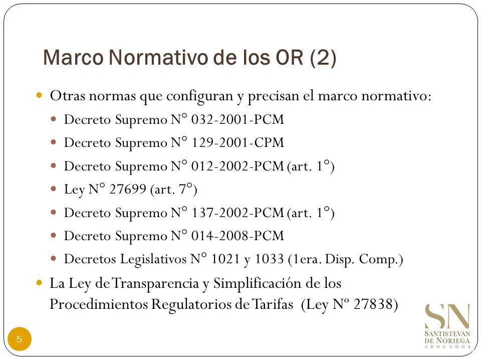 Consejo de Usuarios (3) Competencia: Emitir opinión respecto de las funciones que cumplen los organismos reguladores (art.