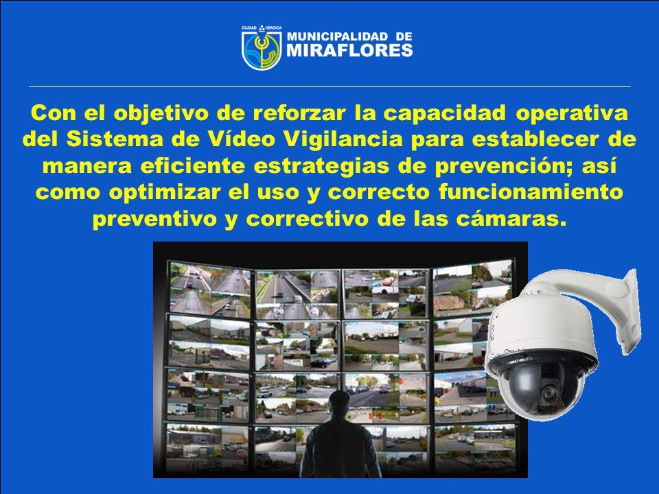 MEJORAR LA OPERATIVIDAD EN EL SISTEMA DE VIDEO VIGILANCIA.