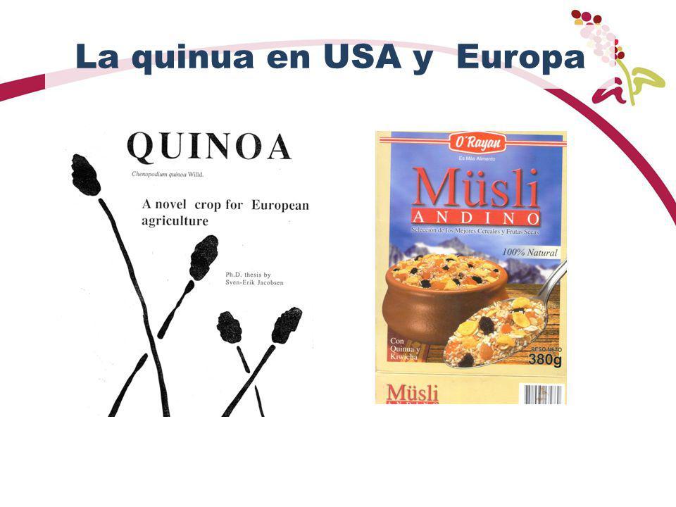 La quinua en USA y Europa