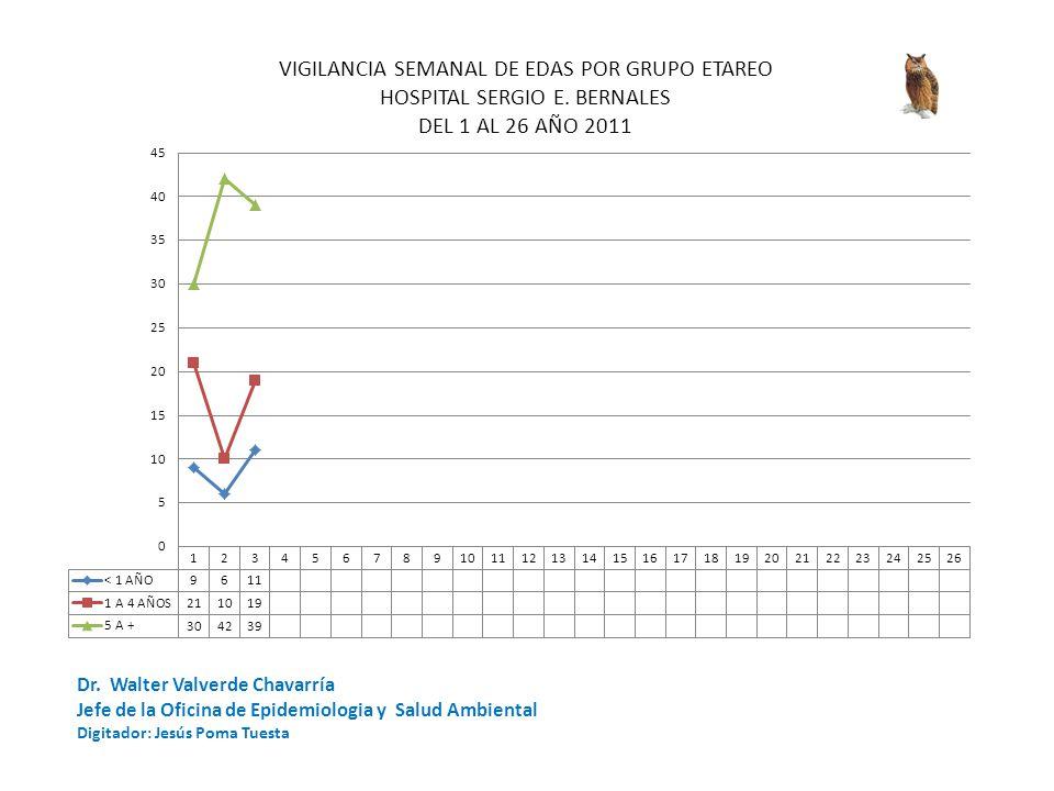 Dr. Walter Valverde Chavarría Jefe de la Oficina de Epidemiologia y Salud Ambiental Digitador: Jesús Poma Tuesta