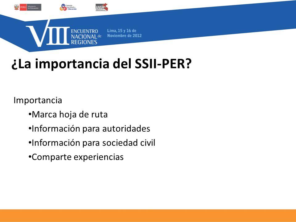 ¿La importancia del SSII-PER.