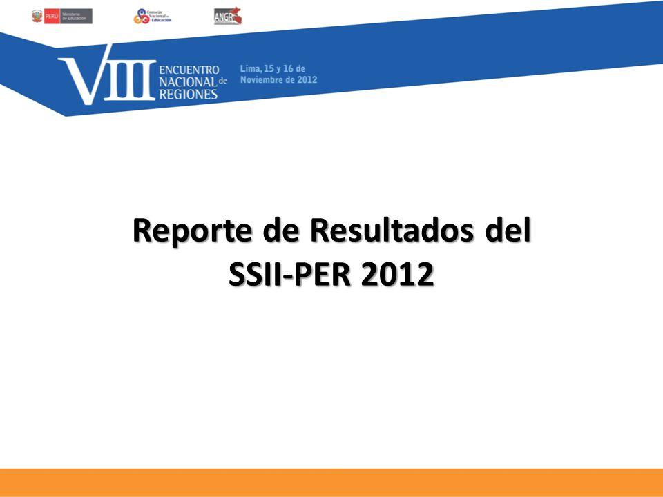 Reporte de Resultados del SSII-PER 2012