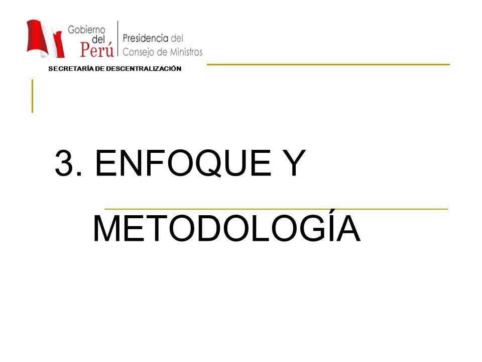 3. ENFOQUE Y METODOLOGÍA SECRETARÍA DE DESCENTRALIZACIÓN