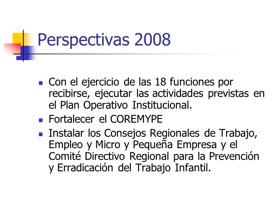 Con el ejercicio de las 18 funciones por recibirse, ejecutar las actividades previstas en el Plan Operativo Institucional.
