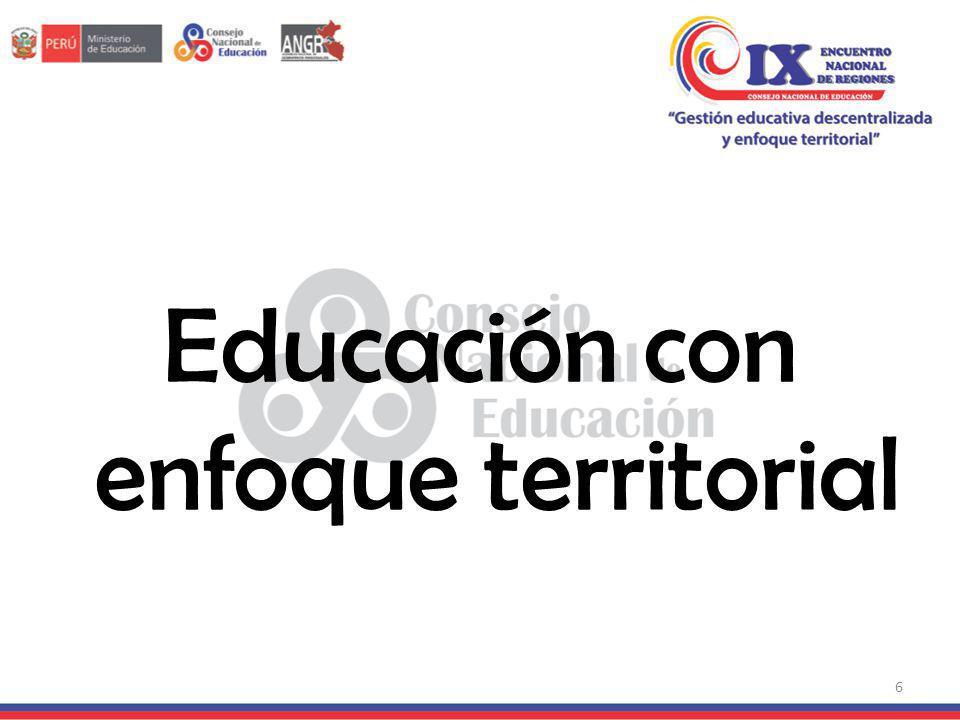 Educación con enfoque territorial 6