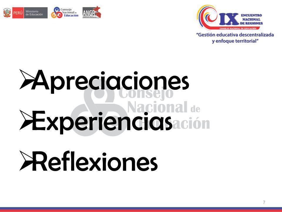 Apreciaciones Experiencias Reflexiones 7