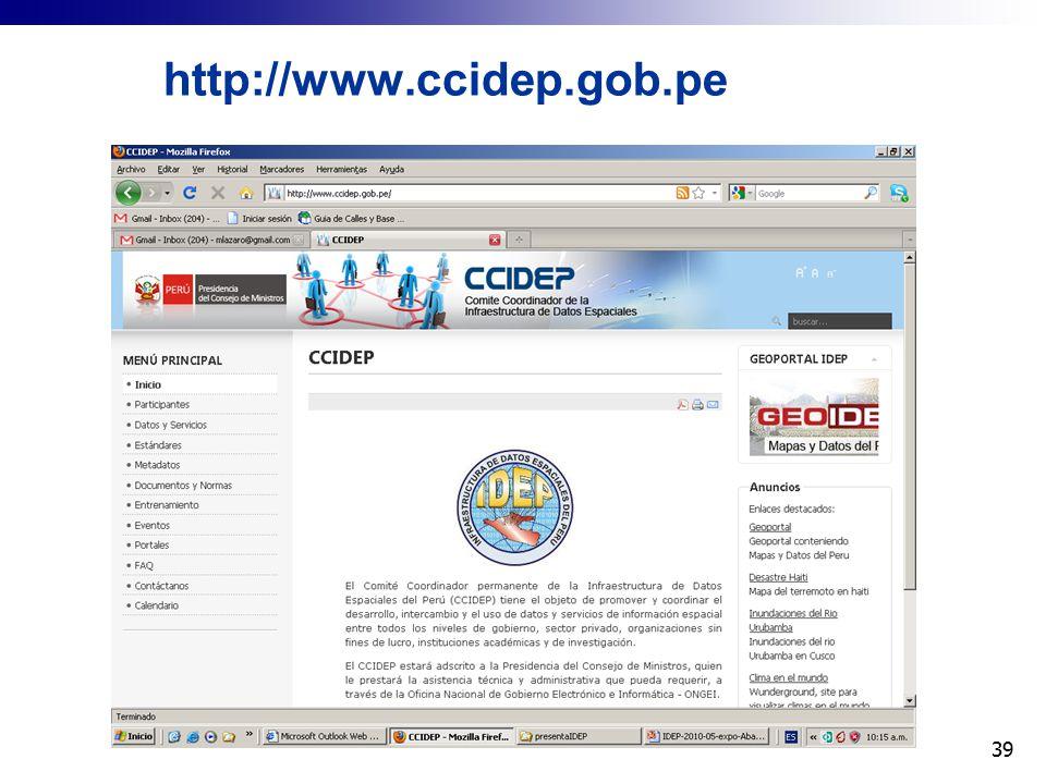 http://www.ccidep.gob.pe 39