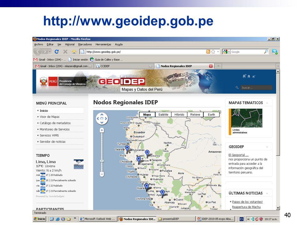 http://www.geoidep.gob.pe 40