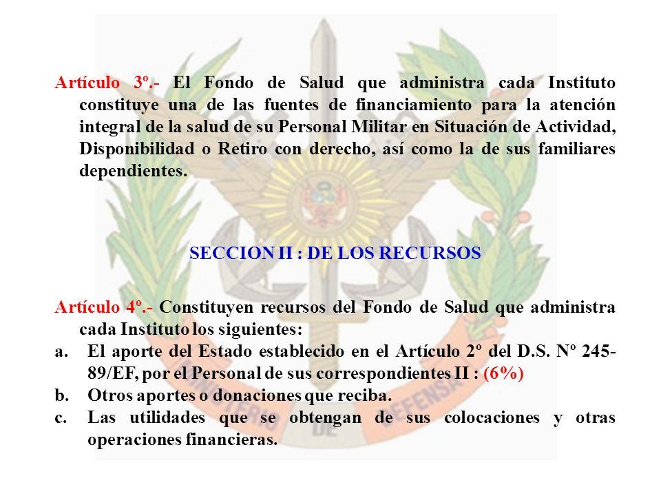 Artículo 3º.- El Fondo de Salud que administra cada Instituto constituye una de las fuentes de financiamiento para la atención integral de la salud de