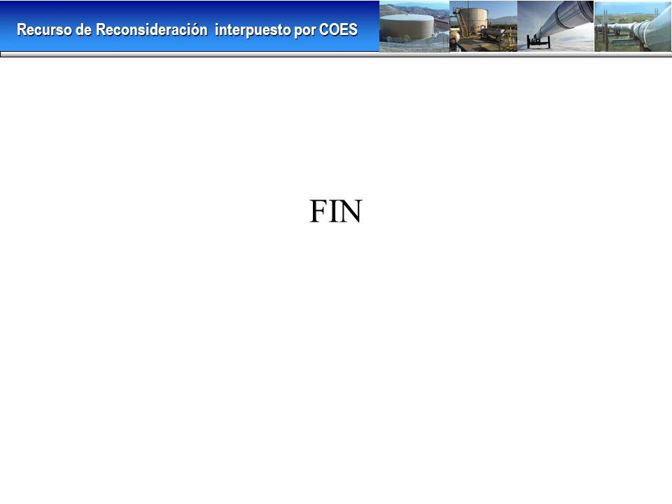 FIN Recurso de Reconsideración interpuesto por COES