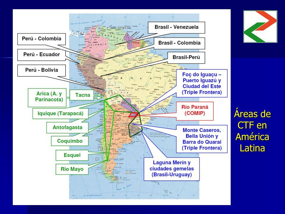 Áreas de CTF en América Latina Insertar mapa Insertar mapa
