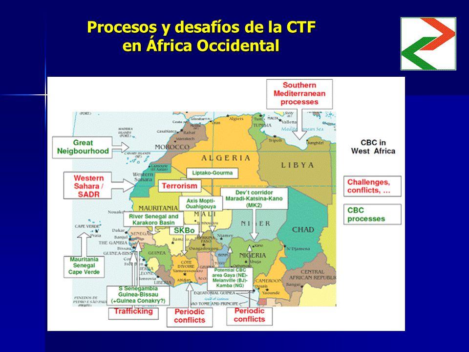 Procesos y desafíos de la CTF en África Occidental Insertar mapa Insertar mapa
