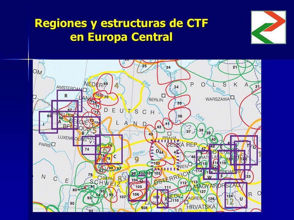 Regiones y estructuras de CTF en Europa Central