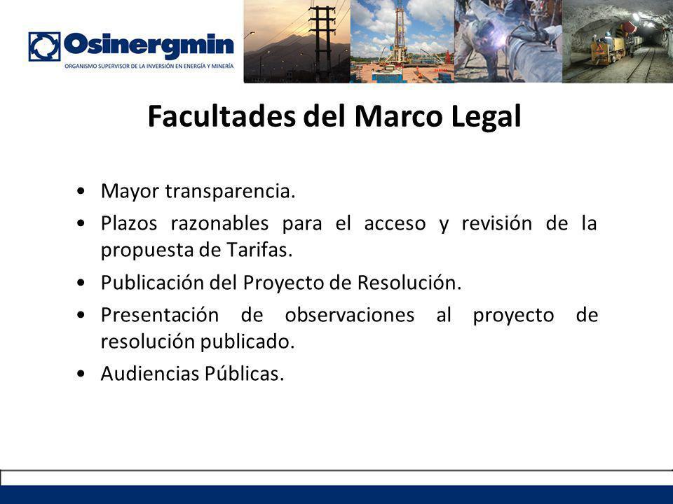 Facultades del Marco Legal Mayor transparencia.