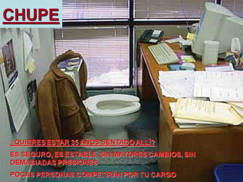 Luis Felipe CALDERÓN-MONCLOA, BA, MBA, PADE, MAML, MSc, DEA 8CHUPE ¿QUIERES ESTAR 35 AÑOS SENTADO ALLÍ? ES SEGURO, ES ESTABLE, SIN MAYORES CAMBIOS, SI