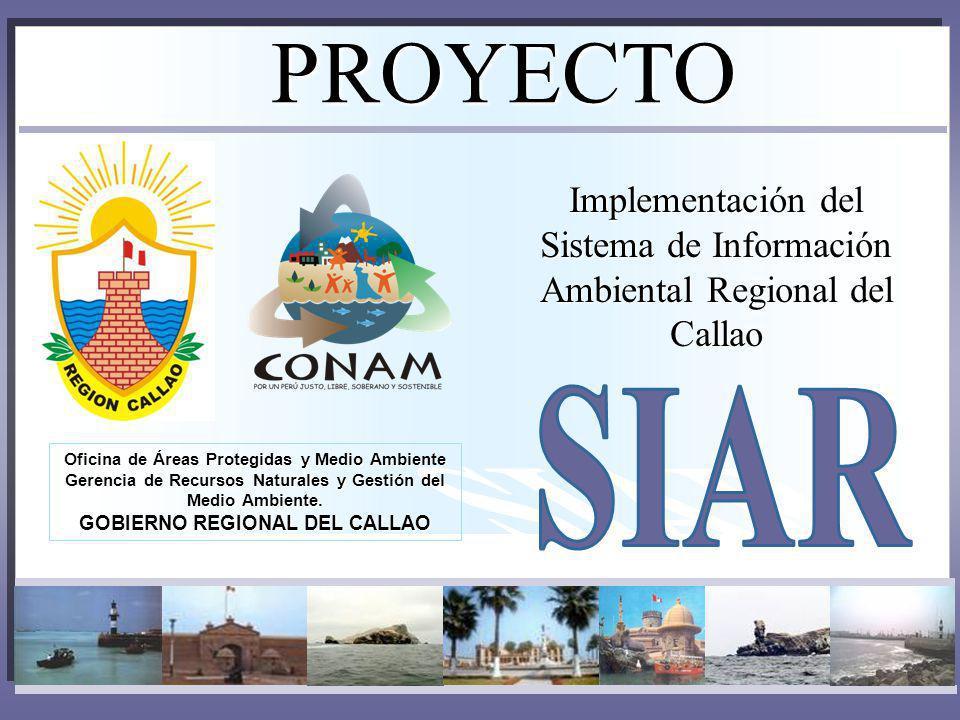 PROYECTO Oficina de Áreas Protegidas y Medio Ambiente Gerencia de Recursos Naturales y Gestión del Medio Ambiente. GOBIERNO REGIONAL DEL CALLAO Implem