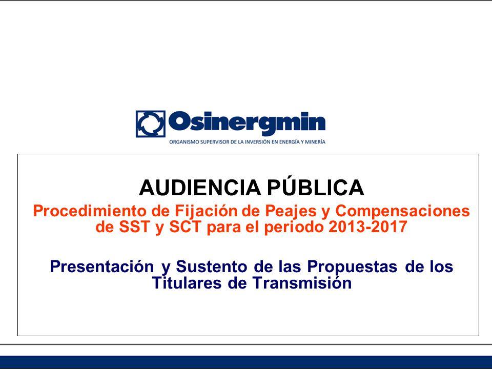 Apertura de la Audiencia Pública Lima, 15 de noviembre de 2012 Ing.