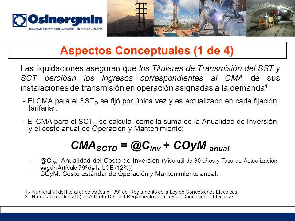 Las liquidaciones aseguran que los Titulares de Transmisión del SST y SCT perciban los ingresos correspondientes al CMA de sus instalaciones de transm