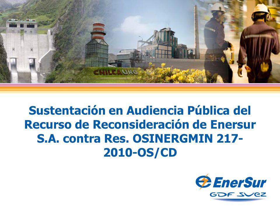 Sustentación en Audiencia Pública del Recurso de Reconsideración de Enersur S.A.
