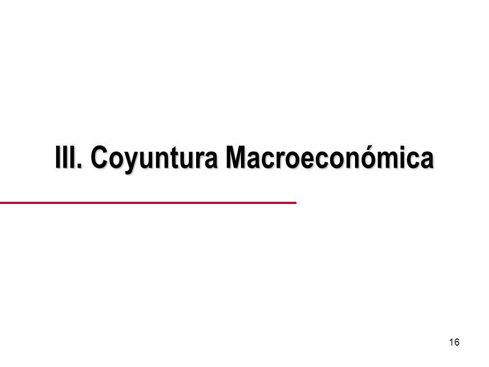 16 III. Coyuntura Macroeconómica