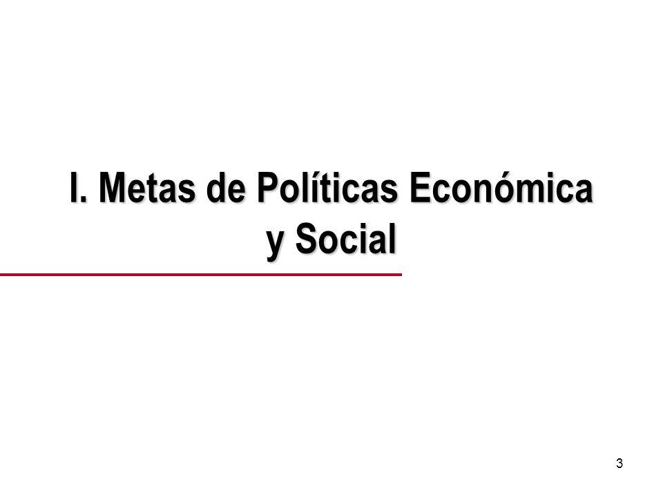 3 I. Metas de Políticas Económica y Social