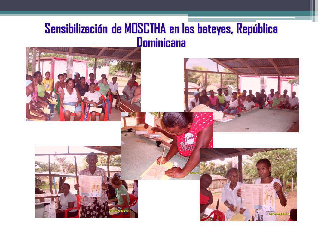 Sensibilización de MOSCTHA en las bateyes, República Dominicana