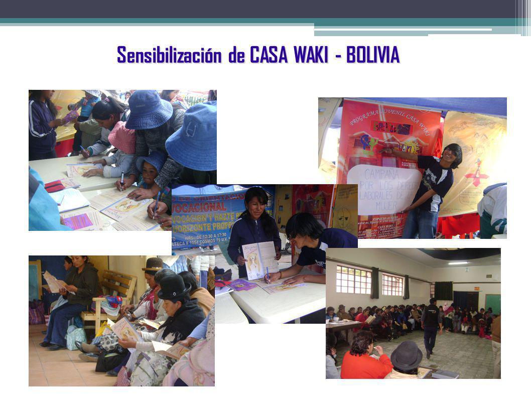 Sensibilización de CASA WAKI - BOLIVIA